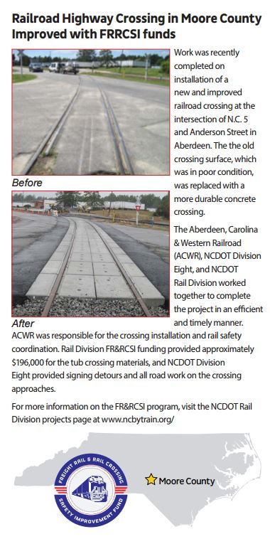 Improved RR Hwy crossing with FRRSCI funds