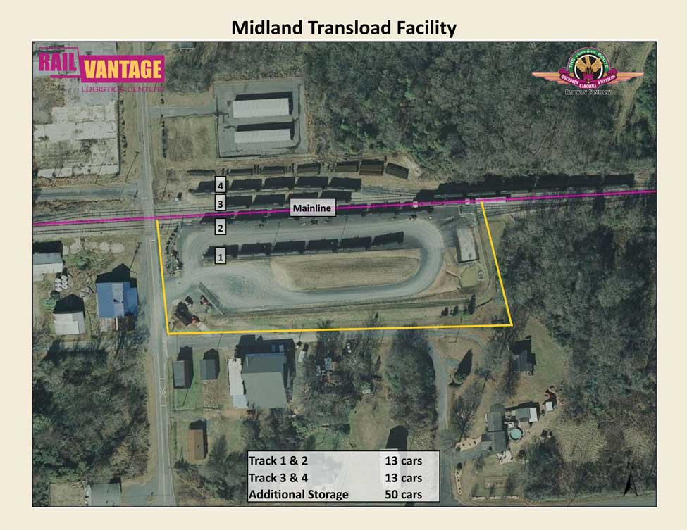 Aerial View of the Midland Transload Facility