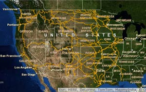 Interactive Maps Of US Freight Railroads ACW Railway Company - Map of us railways