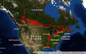 Interactive Maps Of Us Freight Railroads Acw Railway Company - Map-of-us-rail-network