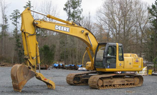 excavator for track maintenance