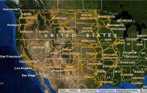 Map Of Us Train Tracks Interactive Maps of U.S. Freight Railroads   ACW Railway Company
